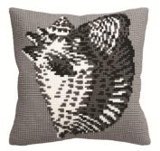 Collection D'art Conque Pillow Cross Stitch Kit 15 3/4'X15 3/4'