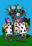 Alice In Wonderland Roses Needlepoint Canvas