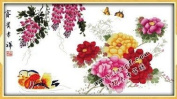 Happy Forever Cross Stitch, flowers, Wealth and good luck 3