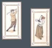 Elsa Williams Golfing Partners Counted Cross Stitch Kit 20cm X 41cm ea.