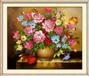 Cross stitch embroidery kit 3D three-dimensional oil painting vase