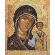 Icon Virgin Of Kazan On Aida Counted Cross Stitch Kit-23cm - 1.3cm x 30cm 18 Count