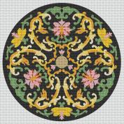 Art Needlepoint Yellow Floral Design Coaster or Ornament Kit