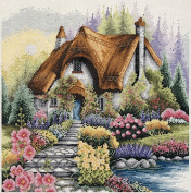 Anchor lakeside cottage - cross stitch kit