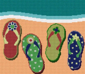 Flip Flops Needlepoint Canvas