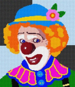 Up Clown Needlepoint Canvas