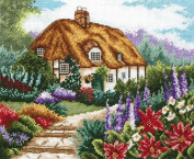 Anchor cottage garden in bloom counted cross stitch kit