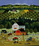 Art Needlepoint Uncle John's Apple Farm Classic Landscape Needlepoint Canvas by Anthony Kleem