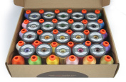 50 Spools Embroidery Thread Collection by Smartneedle