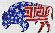 Art Needlepoint Patriotic Buffalo Needlepoint Kit by Tina close