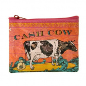 Blue Q - Coin Purse 11cm x 8.1cm , Cash Cow