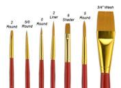 """Fundamentals"""" Short Handle Brush Set No. 15"""