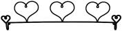 Ackfeld 60cm Dowel Fabric Holder, 3 Hearts