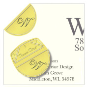 """Monogram - """"W"""" - Paper Clips - Pack of 100"""