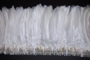 25cm NAGORIE Feather Fringe 15cm - 20cm Dyed WHITE