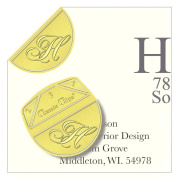 """Monogram - """"H"""" - Paper Clips - Pack of 100"""