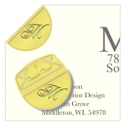 """Monogram - """"M"""" - Paper Clips - Pack of 100"""