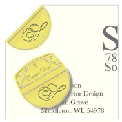"""Monogram - """"S"""" - Paper Clips - Pack of 100"""