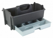 Creative Options 309-083 Moulded Storage Crafter's Caddy with Pull-Out Drawer, Sparkle Grey/Silver