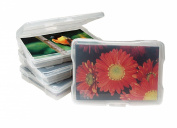IRIS 10cm x 15cm Photo Storage and Embellishement Craft Case, Clear Set of 10