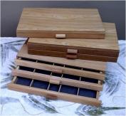 Wood Pastel Storage Box- 3 Drawer