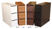 Project Centre Open Storage Cabinet w 3 Bins in Dark Walnut Finish