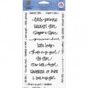 Wonderful Words Stickers 10.25X5 Sheet - For Daughters