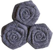 Maya Road BUR2304 Burlap Roses Embellishments, Smoke