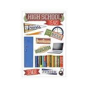 3D Sticker 11cm x 18cm Sheet-High School