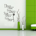 Dance As Though No One Is Watching -Vinyl Wall Lettering Stickers Quotes and Sayings Home Art Decor Decal