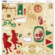 Silver & Gold Adhesive Chipboard 30cm x 30cm -