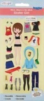 Studio Girl Taggles Sticker Sheets-Skater Girl 27/Pkg