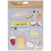 Life's Little Occasions Sticker Medley-Fishing