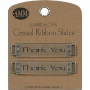 Crystal Ribbon Slides - Thank You