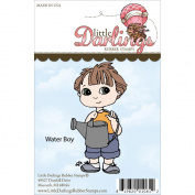 Cutie Pies Unmounted Rubber Stamp 8.3cm x 4.3cm -Water Boy