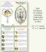 Rosarybeads2u The Rosary For Children Laminated Leaflet Card