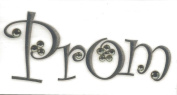 Prom Silver Glitter Rub-Ons for Scrapbooking