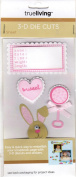 Baby Girl Theme Dimensional Scrapbook Stickers