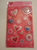 Dimensional Hearts Scrapbook Stickers
