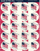American Flag Sticker Seals