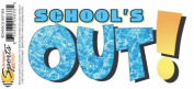 School's Out Rub-on for Scrapbooking