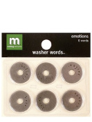 Making Memories Washer Words pack of 6 emotions