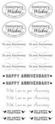 Creative Imaginations - Art Warehouse by Danelle Johnson - Simply Sentiments Collection - Clear Stickers - Anniversary