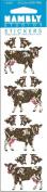Cow Calves Sparkle Scrapbook Stickers
