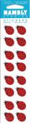Mini Ladybugs Sparkle Scrapbook Stickers