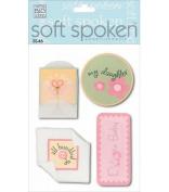 Me & My Big Ideas Soft Spoken 3 Dimensional Embellishments-Delicate Baby Girl