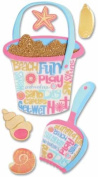 Jolee's Boutique Jumbo Dimensional Stickers-a Day At The Beach/shovel & Bucket