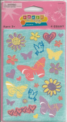 Butterfly Birds and Flowers Scrapbook Stickers