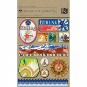 Boy Scouts Adhesive Chipboard, Adventure