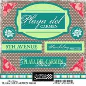 Playa Del Carmen Bon Voyage Cardstock Scrapbook Stickers